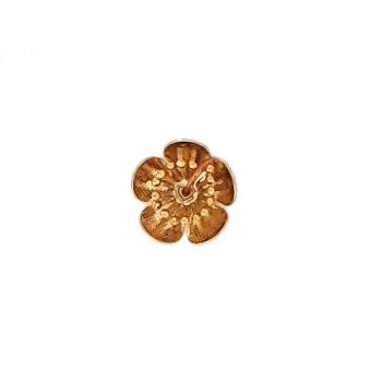 Fiore in ottone grezzo mm 16