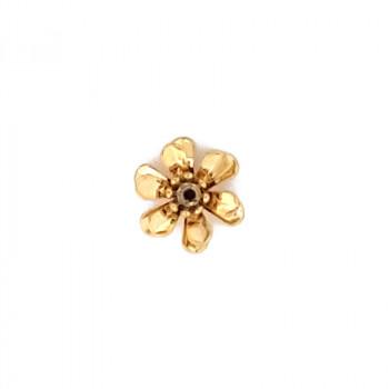 Fiore in ottone grezzo mm13