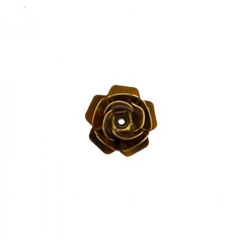 Rosa in ottone da mm 11 componente bigiotteria