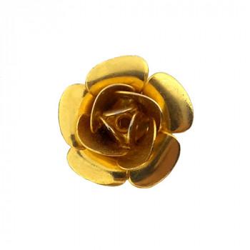Rosa in ottone da mm 15 componente bigiotteria