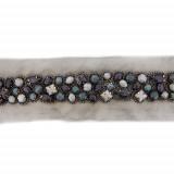 Passamaneria con pietre sfaccettate h. 2.5 cm