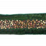 Passamaneria con mini paillettes metalliche h. 3 cm