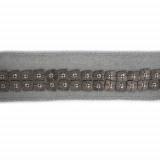 Passamaneria con conterie metalliche quadrate h. 1.5 cm
