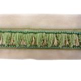 Passamaneria ricamata con perline h. 3 cm
