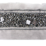 Passamaneria con conteria scura h. 3.8 cm