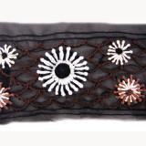Passamaneria a motivi floreali ricamati h. 8 cm