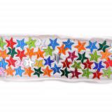 Passamaneria con paillettes grandi a stella h. 5 cm