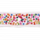 Passamaneria con paillettes colorate a stella h. 3.5 cm