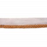 Passamaneria su tessuto con sfere in legno h. 1 cm
