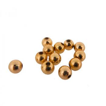 Pallina in plastica oro mm 8 con foro passante