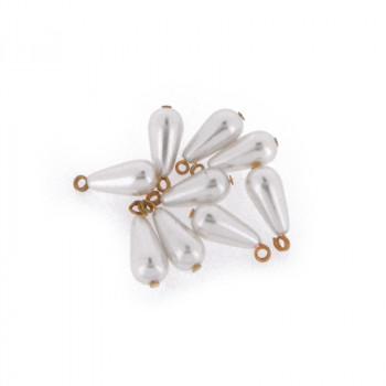 Goccia perla mm 8x16 con anello