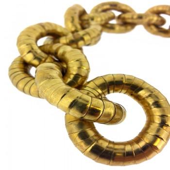 Manico per borsa in metallo cm 50 oro