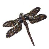 Spilla a forma di libellula arancio 13 x 10 cm