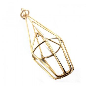 Accessorio in metallo oro con anello 10 cm