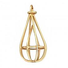 Accessorio in metallo oro con anello 5.5 cm
