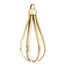 Accessorio a goccia in metallo oro con anello 5 cm