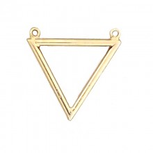 Particolare triangolare in metallo oro con anellini 3.2 cm