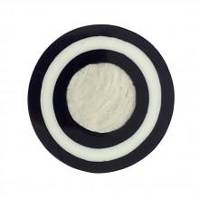 Tondo in resina mm 50 con conchiglia grigia