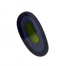 Ovale irregolare in resina 64 x 30 con conchiglia verde