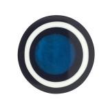 Tondo in resina mm 50 con conchiglia blu