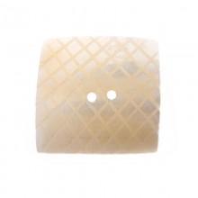 Bottone in conchiglia quadrata con 2 fori mm 23x23