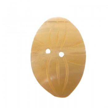 Bottone in conchiglia a goccia con 2 fori mm 25x20 circa