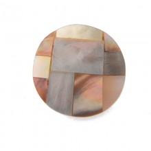 Tondo da mm 23 in conchiglia (shell inlay)
