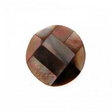 Tondo da mm 20 conchiglia (brown lip shell inlay)
