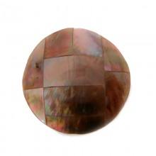 Tondo da mm 30 conchiglia (brown lip shell inlay)