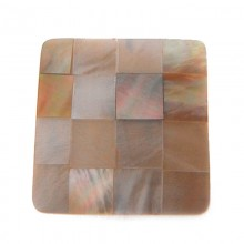 Quadrato da mm 25x25 in conchiglia (shell inlay)