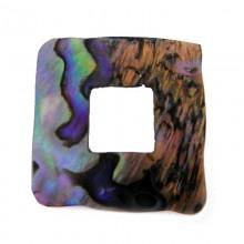 Quadrato irregolare in conchiglia 30 x 30 mm (pawa  shell)