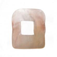 Rettangolo irregolare in conchiglia mm 30x25 (hammer shell)
