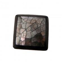 Quadrato conchiglia mm 20x20 black lip+gray wood