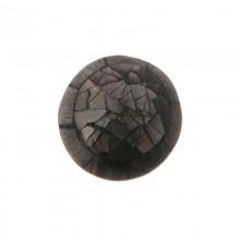 Tondo conchiglia mm.24 black lip craking+gray wood