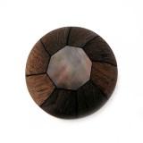 Ottagono conchiglia.mm.32 black lip+legno