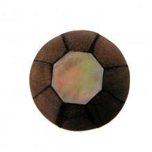 Ottagono conchiglia mm.24 black lip+ legno