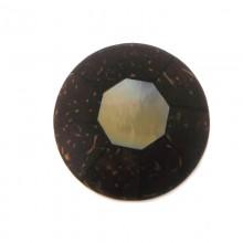 Ottagono conchiglia mm.32 black lip+cocco
