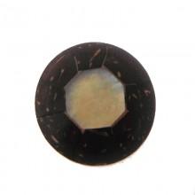 Ottagono conchiglia mm.20 black lip+cocco