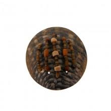 Tondo in conchiglia da 55 mm.black grezza con lavorazioni