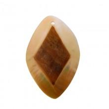 Trapezio in conchiglia mop naturale/grezza con foro mm 70 x 40 circa