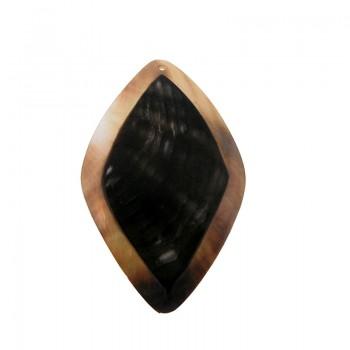 Trapezio black lip naturale/grezza con foro cm 6.5x4