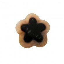 Fiore in conchiglia black lip naturale/grezza con foro cm 2.5