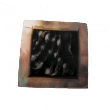 Quadrato in conchiglia black lip naturale/grezza da cm3x3