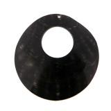 Disco in conchiglia con foro black lip grezza cm 6.5