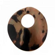 Disco in conchiglia con foro tigrato cm 6.5