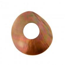 Disco in conchiglia con foro brown lip cm 6.5