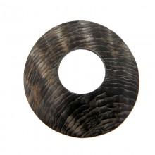 Disco con foro in conchiglia black lip grezza ( cm 5.5 esterno, cm 2 interno )