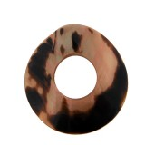 Disco con foro in conchiglia tigrato ( cm 5.5 esterno, cm 2 interno )