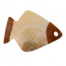 Conchiglia incisa a pesce con foro mm 75 x 55