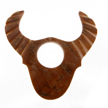 Conchiglia incisa a toro con foro mm 50 x 35